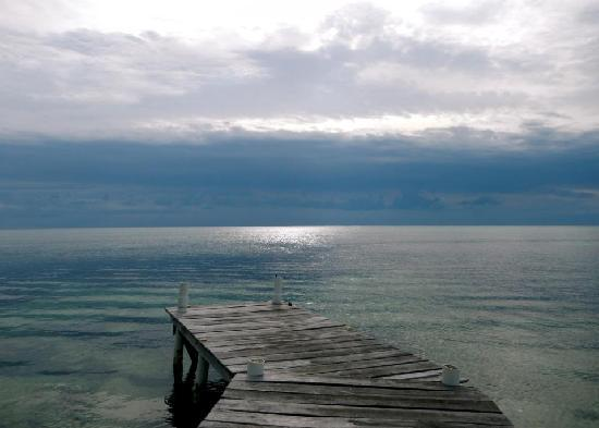The Landings at Tres Cocos: The pier outside of Tres Cocos on an unusually calm day