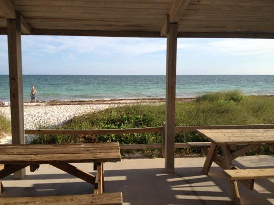 Bahia Honda State Park and Beach : pavilion makes for a great picnic spot