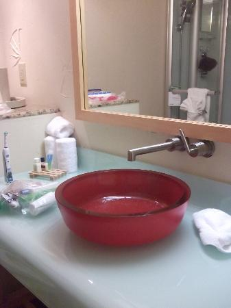 Radisson Hotel Baton Rouge: Bathroom sink and counter