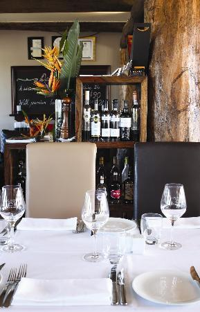 Reserve Restaurant Cellar: Main dining room and cognac shelf