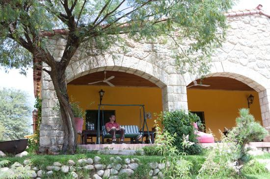 Samay Huasi: The cool terrace overlooking the valley down to Cachi