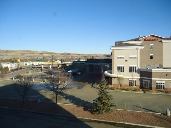 Super 8 Drumheller: view from our room