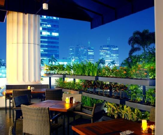 The Ritz-Carlton Jakarta, Mega Kuningan: Take in the stunning view of downtown Jakarta from our Asia Terrace.