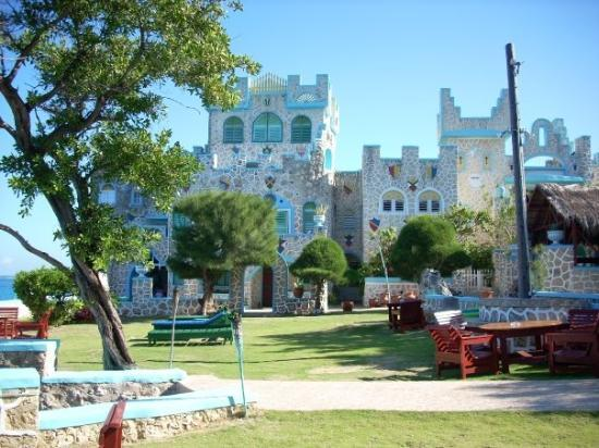 Blue Cave Castle: Castle and Yard from opposite side of property
