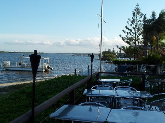 Caloundra Power Boat Club: The deck and looking South