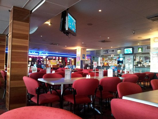 Caloundra Power Boat Club: The Lounge looking through to the Gaming area