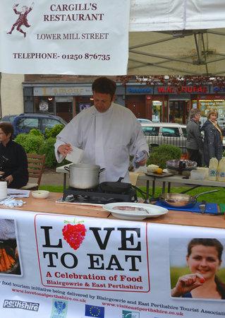 Cargill's Restaurant & Bistro : Demonstrating on behalf of Love To Eat in the Wellmeadow, Blairgowrie