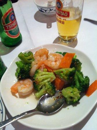 New World Chinese : gamberi e broccoli