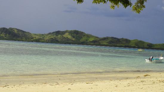Lomani Island Resort: View from the resort beach