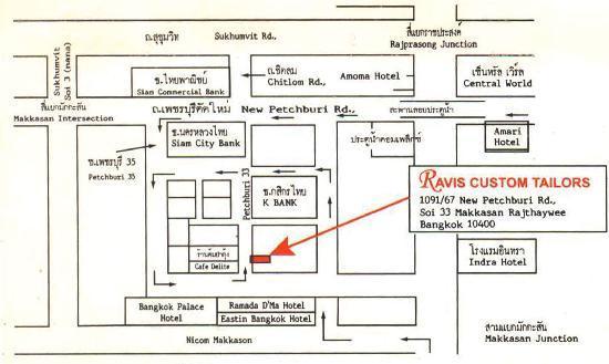 Ravis Tailor: map