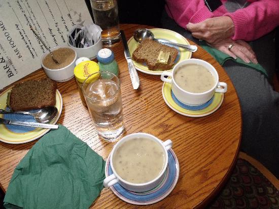 Mikey Ryan's: The best mushroom soup!  Wish I had the recipe!