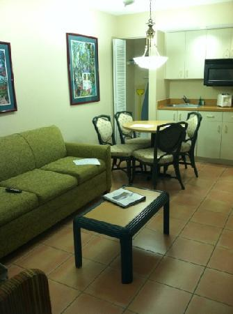 Vacation Village at Bonaventure: furniture. room is clean nevertheless