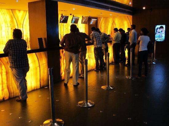 Sathyam Cinemas : Ticket counter.