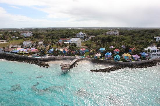 Compass Point Beach Resort: Helicopter view