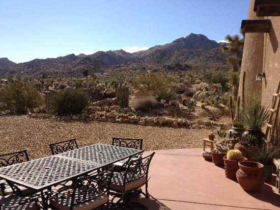 Desert Lily: Beautiful patio overlooking the park.