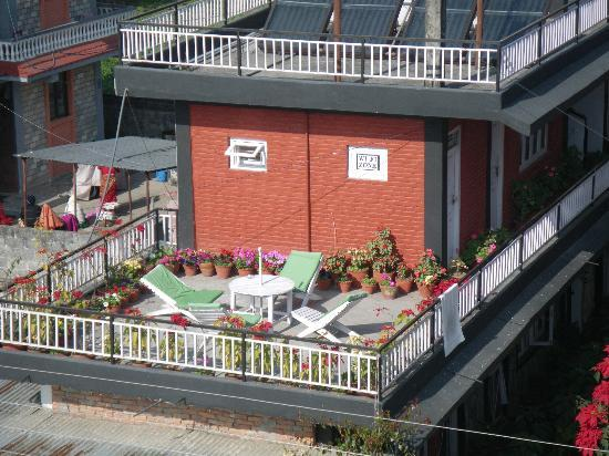 Harvest Moon Guest House : dachterasse
