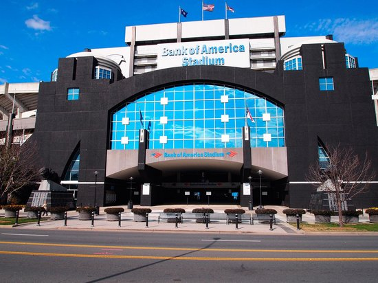Charlotte, Carolina do Norte: Front of Bank of America Stadium