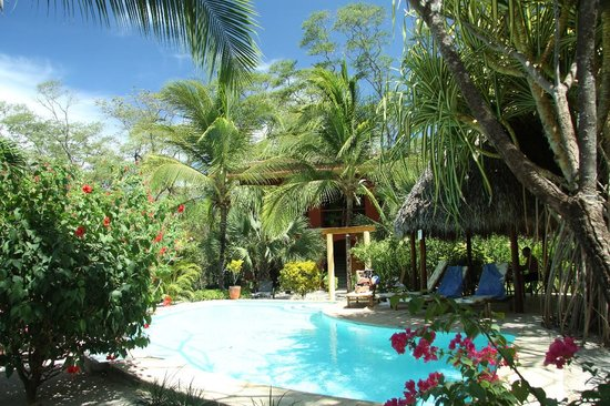 Hotel Cantarana: the pool and the rooms