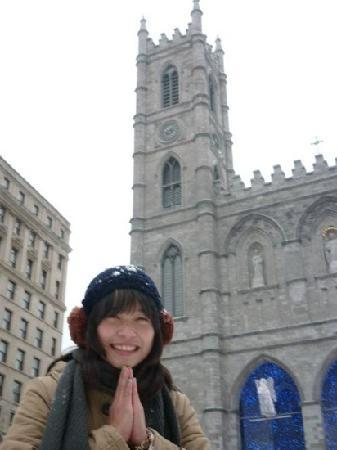 Old Montreal: in front of notre dame basilica...
