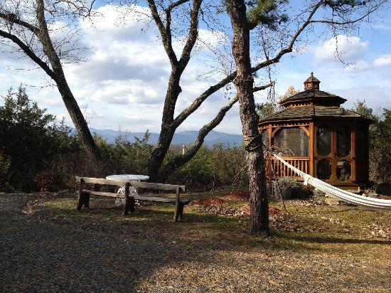 A Mountain View Retreat: the swing