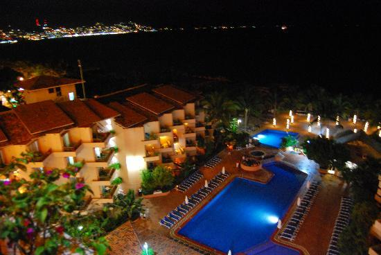 Friendly Vallarta All Inclusive Family Resort: from patio looking towards downtown
