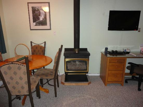 Shorewater Resort: Fireplace didn't work during our stay. :(