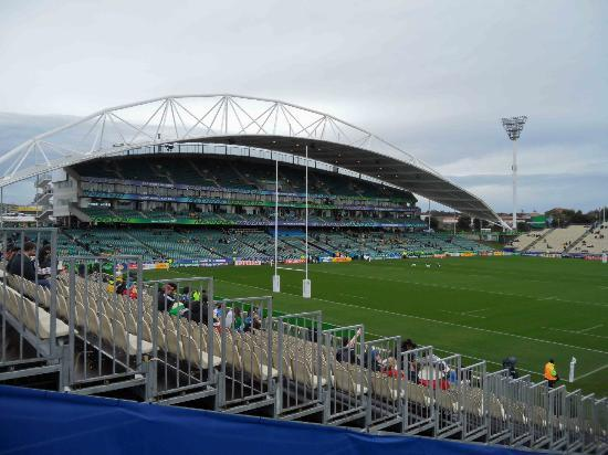 QBE Stadium: Entering the North Harbour Stadium ground