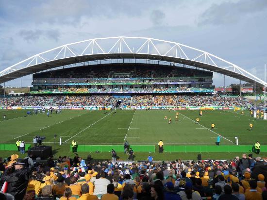 QBE Stadium: The curved main stand at North Harbour Stadium