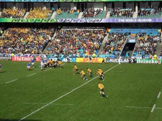 QBE Stadium: On field action during the Rugby World Cup