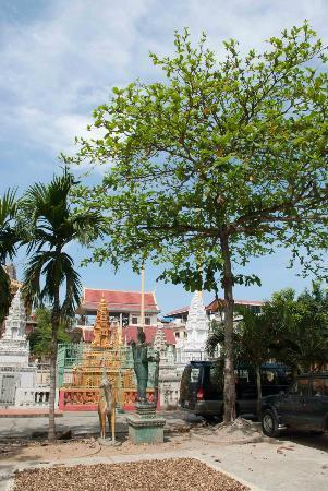 Walking inside Wat Sarawan