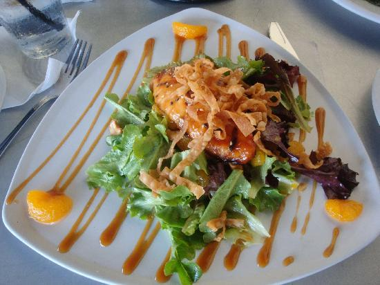 Grilled Greek style Mahi Mahi over spinach with feta - Picture of ...