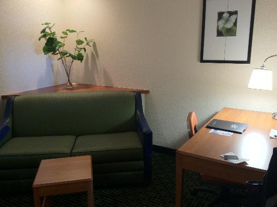 Fairfield Inn & Suites Kansas City Airport: Desk Work Area