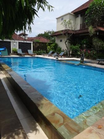 Puri Sading Hotel: View from one of the pool view rooms