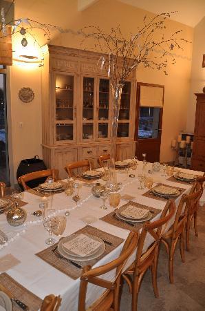Truffiere des Merigots: la table qui change à chaque repas