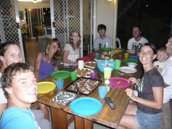 Caloundra Backpackers: cute baby in cooking contest