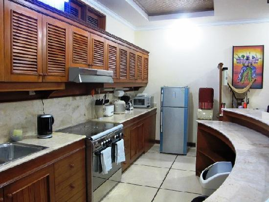 Lazy Dog Villa: Fully equipped kitchen with fridge and cold water