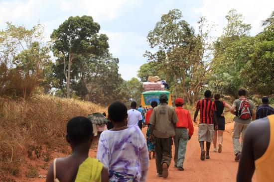 Selous Mbega Camp : Akidas Bus - People have to get off the bus, so it can go up a hill