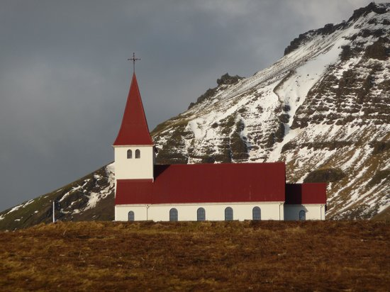 Fosshotel Hekla : A church in the coastal resort of Vic