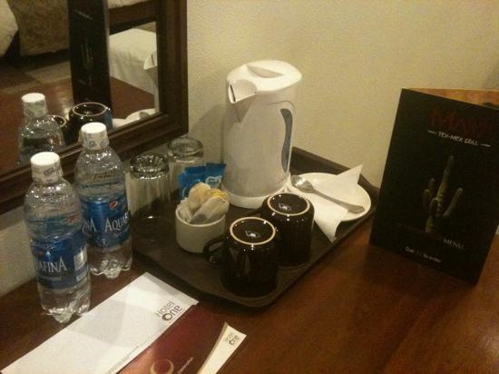 Hotel One Gulberg: tea/ coffee maker n complimentary water