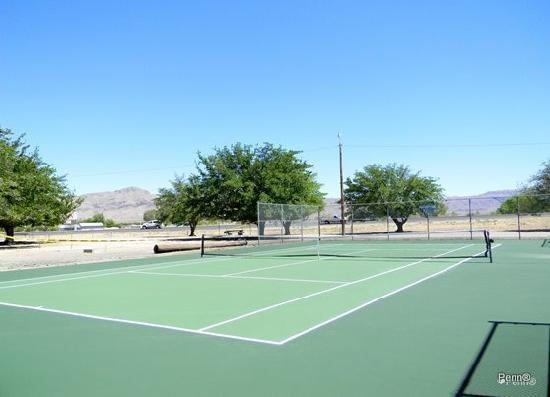 Tennis court in Williamsburg - photo courtesy Penn Root