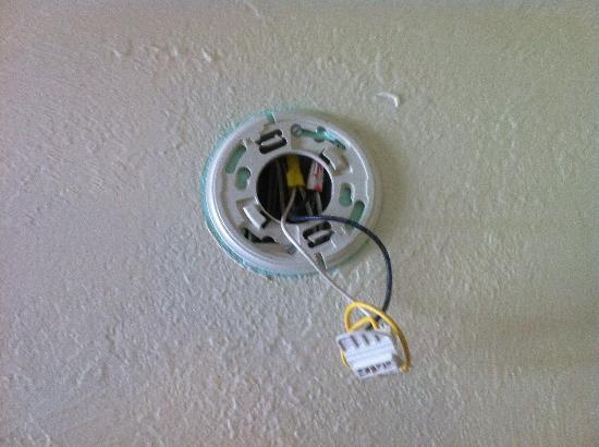 Howard Johnson Inn - FT. Myers FL: Missing smoke detector in room