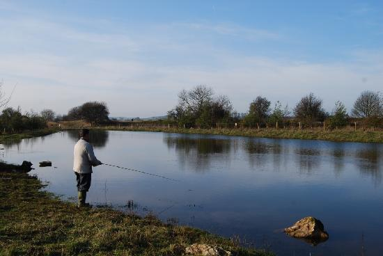 Peak District Spa: fly fishing on trout lake