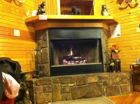 Oden, AR: there are 3 notes, JUST by the fireplace.