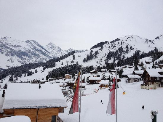 Hotel Jungfrau: More views of Murren from hotel window