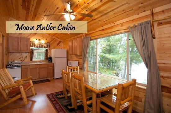 Moose Track Adventures : Moose Antler Cabin - Newly remodeled lakeside cabins