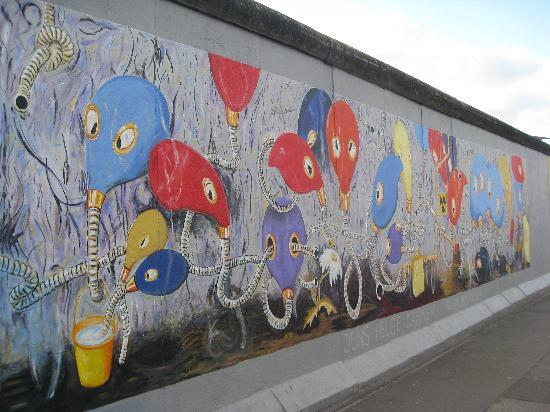 Wall mural picture of east side gallery berlin for Berlin wall mural