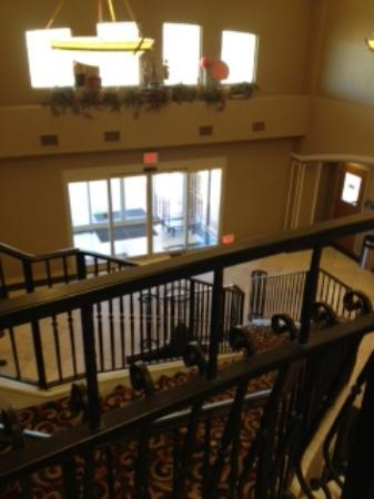 Super 8 Lubbock TX: lobby view from second floor