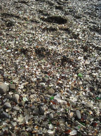 Glass Beach: Lots of glass