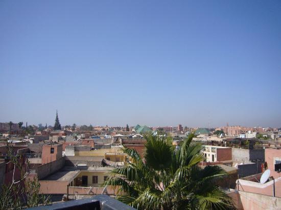 Riad Mboja: vista dalla terrazza
