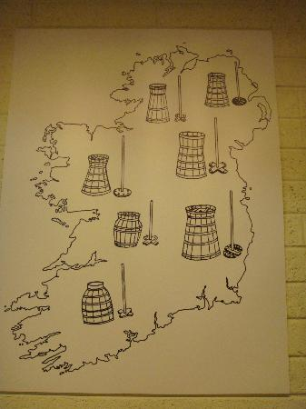 Butter Museum: Different types of a churn in Ireland